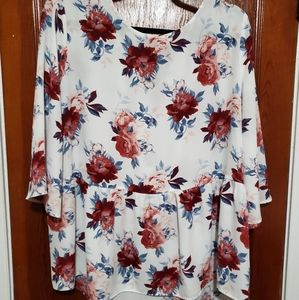 Faded Glory Floral Top